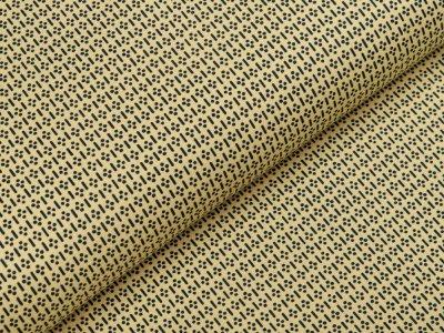 Webware Baumwolle Patchwork - Punkte und Striche - gelb