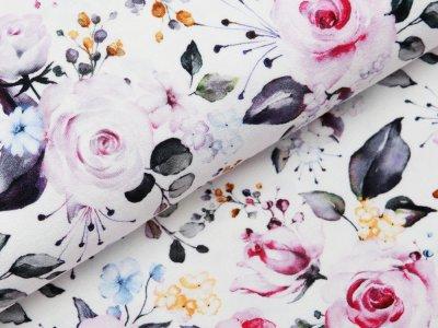 Jersey Viskose Crepe - Fräulein von Julie  - Blüten - weiß