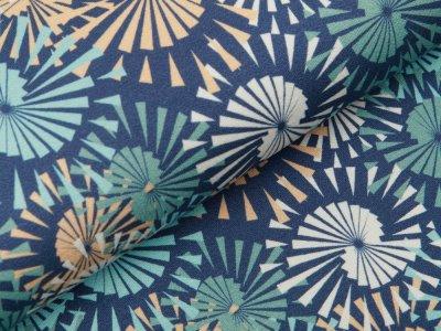 Jersey Viskose Crepe - Fräulein von Julie  - abstrakte Kreise - blau