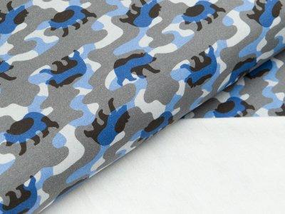 Leicht angerauter Sweat Hilco - Ours - grau/blau
