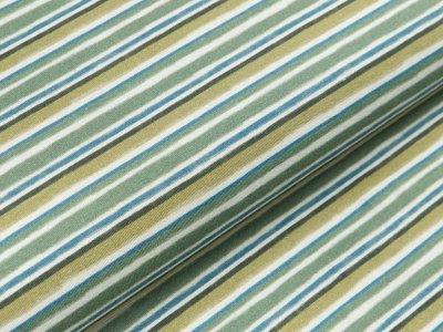 Jersey Hilco - Stripe 2 - grün Töne