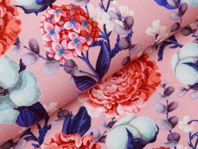 Jersey Viskose Crepe - Fräulein von Julie  - Blüten - rosa