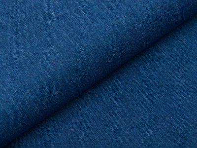 Recycled Stretch Jeansstoff - uni jeansblau