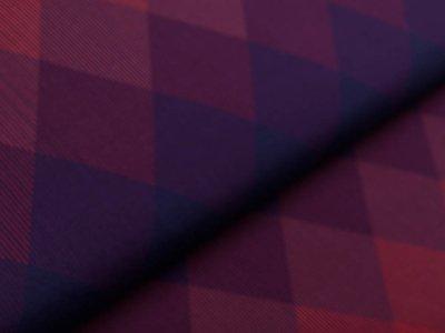 Jersey PANEL 80 cm x 160 cm - Square Dance by Thorsten Berger - Allover-Karomuster - dunkles blau/violett