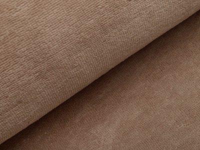 Bambus Fleece - uni dunkles beige