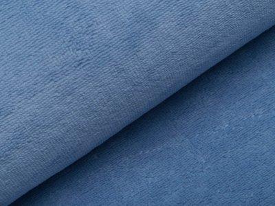 Bambus Fleece - uni helles blau