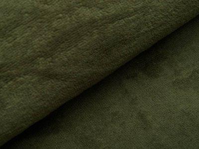 Bambus Fleece - uni dunkles grün