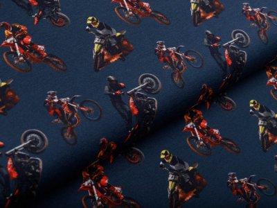 Sweat French Terry Digitaldruck Stenzo - Motocross - jeansblau