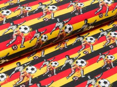 """Jersey Swafing Steinbeck """"Fußball""""  - Fußballer und Streifen - schwarz/ rot / gelb"""