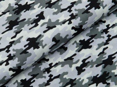 Webware Baumwolle Popeline - Camouflage - grau