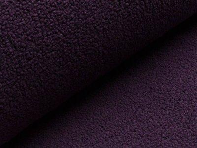 Bouclé Mantelstoff - dunkles lila