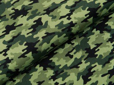 Webware Baumwolle Popeline - Camouflage - grün