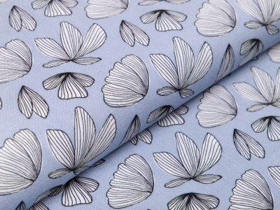 Webware Viskose Boho Fly by Jolijou - Schmetterlingsblumen - blau