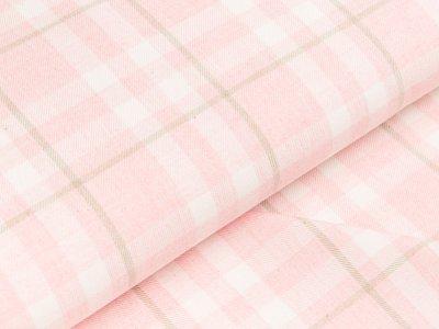 Gew. Baumwollstoff Hilco - Check - rosa