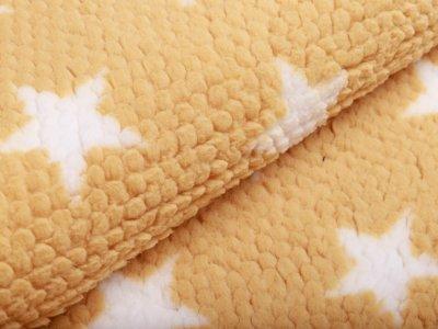 Fleece - 3D Noppen - Sterne - gelb