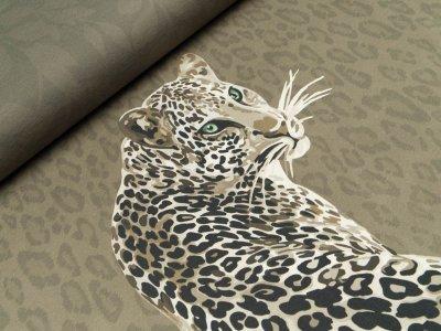 Jersey Digitaldruck Stenzo PANEL ca. 200 x 150 cm - Leopard - olivgrün