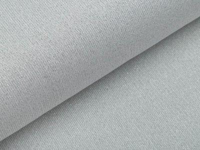 Strickstoff Viskose mit Glitzerfäden - wollweiß