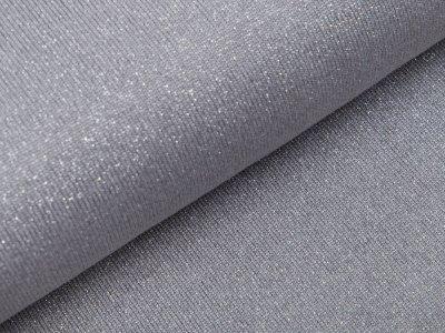 Strickstoff Viskose mit Glitzerfäden - grau