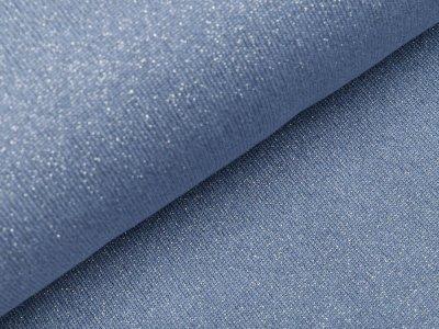 Strickstoff Viskose mit Glitzerfäden - jeans