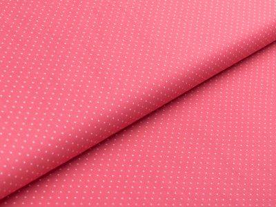 Webware Popeline Baumwolle - mini Punkte - pink