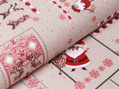 Canvas - Weihnachtswichtel - beige