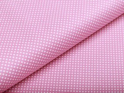 Webware Baumwolle - mini Punkte - rosa