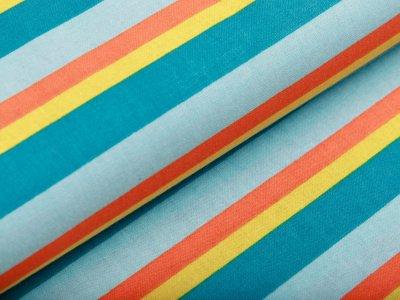 Webware Baumwolle - Streifen - mint
