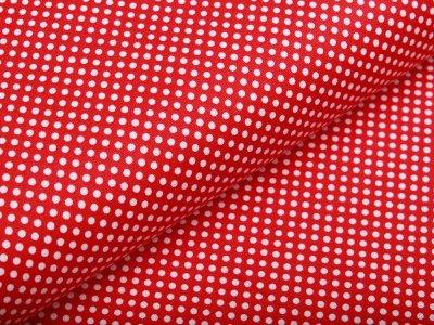 Webware Baumwolle - mini Punkte - rot