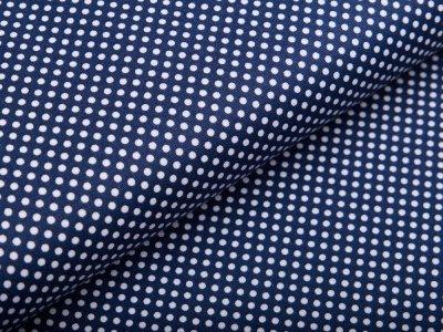 Webware Baumwolle - mini Punkte - dunkles blau