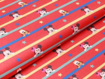 Webware Baumwolle Digitaldruck - Disney  Mickey Mouse - rot