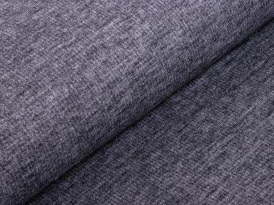 Angerauter Hosen-Jacken-Stoff Webware Doubleface - meliert grau
