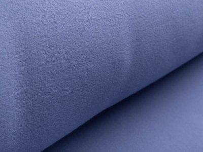 Baumwollfleece - uni jeansblau