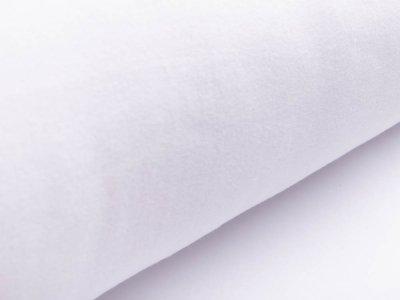 Baumwollfleece - uni weiß