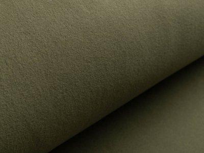 Baumwollfleece - uni waldgrün