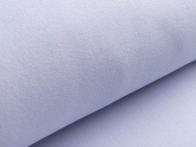 Baumwollfleece - uni helles blau