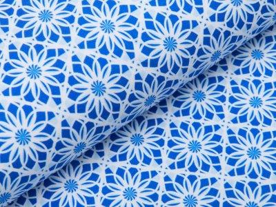 Jersey - Blumenmuster - blau