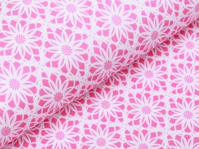Jersey - Blumenmuster - pink