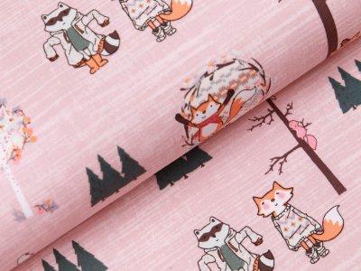 Jersey  - Füchse im Wald - rosa