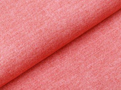 Sweat French Terry Digitaldruck in Jeansoptik - lachs