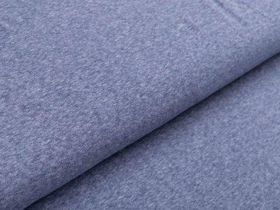 Jersey Viskose - meliert jeansblau