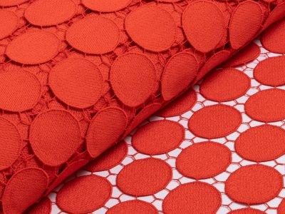 Designerspitze - Kreise - rot