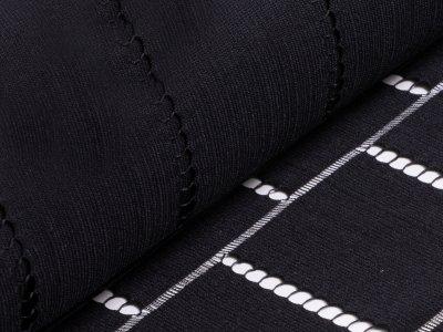 Designerspitze - Vierecke - schwarz