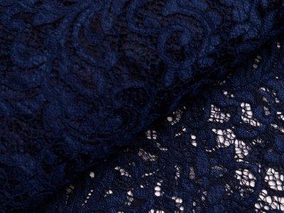 Hochwertige Spitze - Florales-Muster - nachtblau