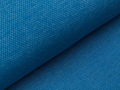 Angerauter Sweat Jacquard - Strickoptik - blau
