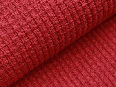 Strickstoff Baumwolle - meliert - rot