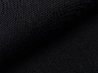 Jersey Rippstrick - uni schwarz
