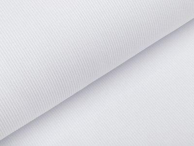 Jersey Rippstrick - uni weiß