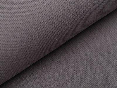 Jersey Rippstrick - uni grau-taupe