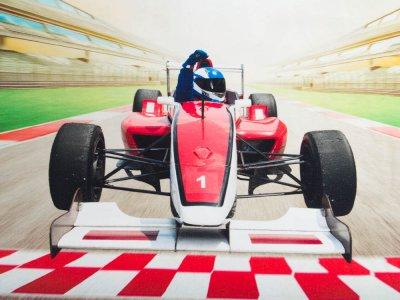 Jersey Digitaldruck Stenzo PANEL ca. 75 x 150cm - Rennfahrer - bunt