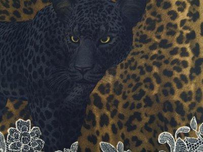 Jersey Digitaldruck Stenzo PANEL ca. 200 x 150cm - Panther und Animalprint - braun/schwarz